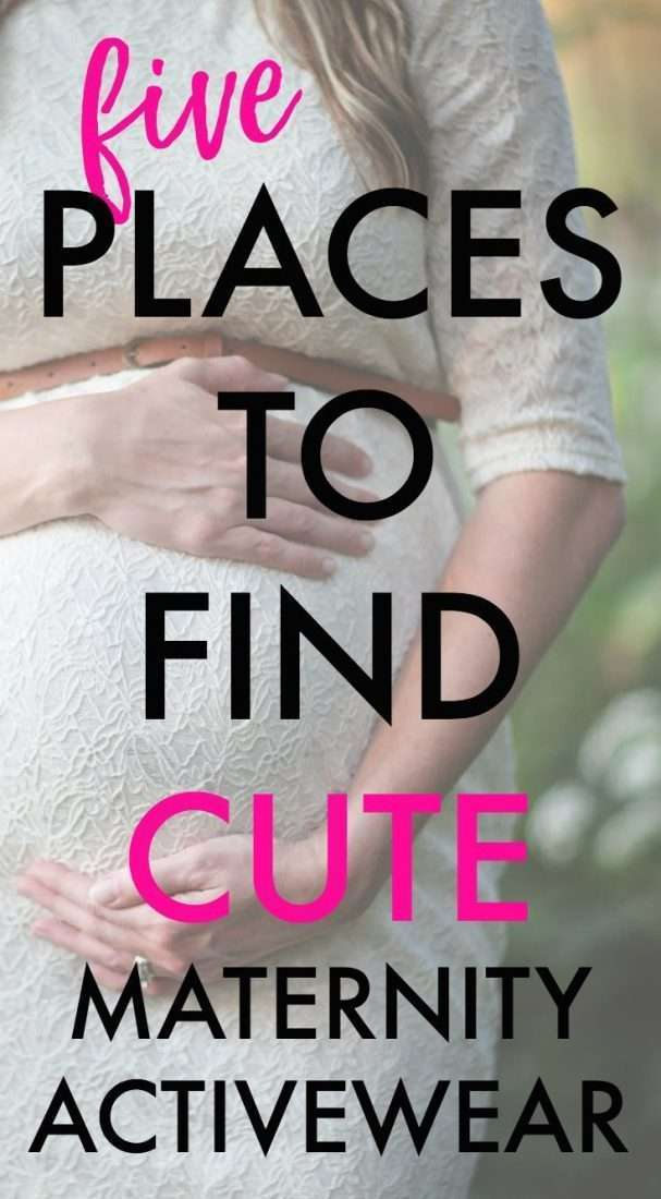 Need cute maternity activewear? Find cute and affordable workout clothes here.