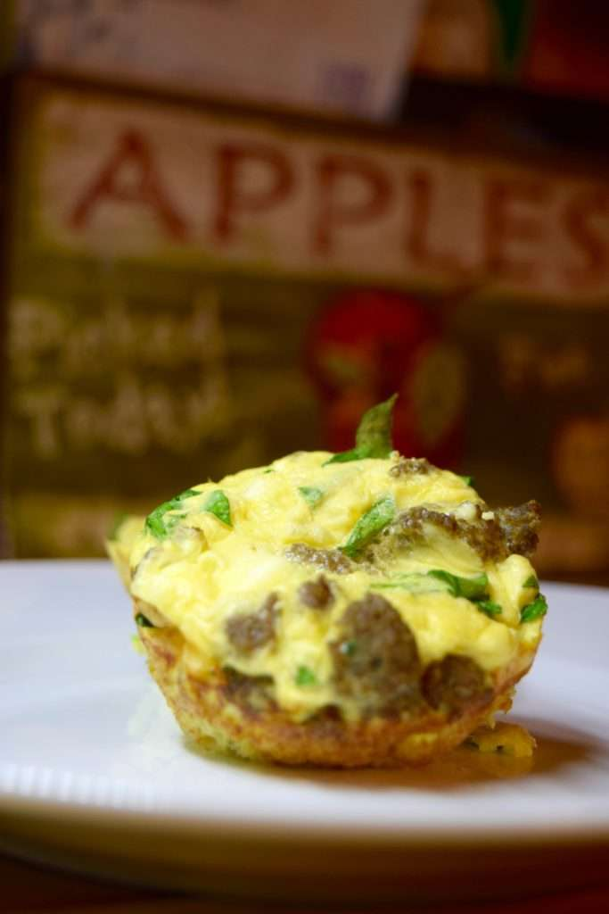 Easy breakfast egg muffin cups. These are high protein with turkey sausage.