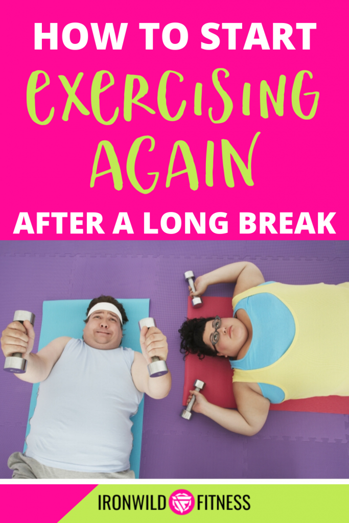 Find out how to get started exercising again after a break. Even if you are a beginner or haven't worked out in years, you can get started working out again. Here's how to start exercising when out of shape.